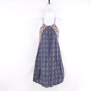 90's Floral Mandala Print Summer Beach Dress